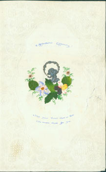 Hand Made Valentine's Card, with Poem inked inside, dated 13th of February, 1851. 19th Century American Correspondent.