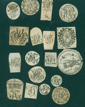 Eighteen Engravings, Mostly Decorative Initials. 18th Century British Engraver?
