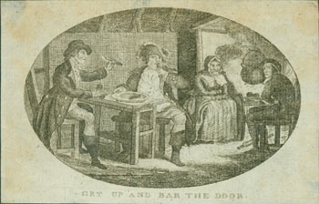 Get Up And Bar The Door. 18th Century British Engraver?