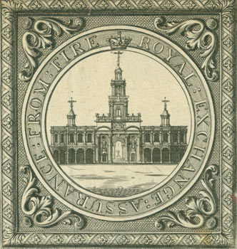Royal Exchange: Assurance: From Fire. 18th Century British Engraver?