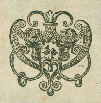 Watermark Design Used as Tailpiece in Rare Books. 17th Century British Engraver?, Saurii.