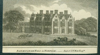 Barmingham Hall in Norfolk -- Seat of J. T. Mott, Esq. 18th Century British Engraver.
