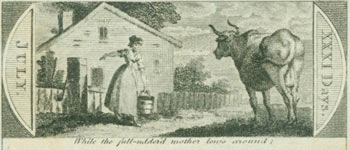 While The Full-Uddered Mother Lows Around. 18th Century British Engraver.