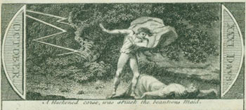 A Blackened Corse, Was Struck The Beauteous Maid. 18th Century British Engraver.