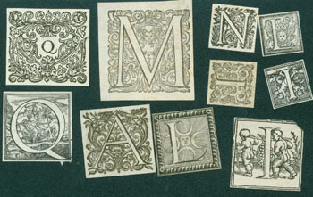 Engraved Initials. [Approximately 50 small engravings total]. 17th Century Italian Engraver.