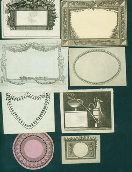 Decorative Frames/Borders. 17th Century Italian Engraver.