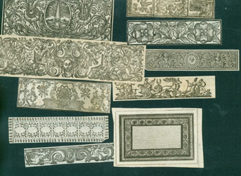 Decorative Borders. 17th Century Italian Engraver.