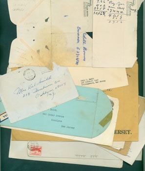 Miscellaneous Correspondence and envelopes from Adel Smith, WC Fields' sister, most with MS notes. Adel Smith.