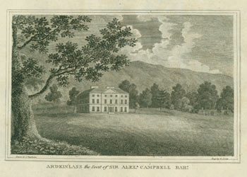 Ardkinlass the Seat of Sir Alex[ander] Campbell Bar[onet]. Robert Scott, After J. Denholm, 1777 - 1841, engr.