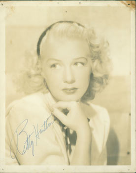 Promotional Photograph, With Original Autograph by Betty Hutton. 20th Century Hollywood Photographer, Betty Hutton.