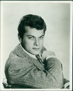 "Promotional 8 x 10 Black & White Glossy Photograph of Tony Curtis, for the film ""Son Of Ali Baba."" Universal-International Studios, 20th Century Hollywood Photographer."