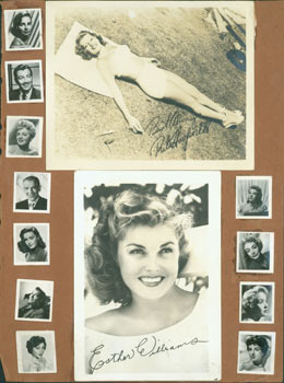 Promotional Black & White Glossy Photographs of Hollywood stars including Rita Hayworth, Esther Williams, Joan Crawford and others. 20th Century Hollywood Photographers.