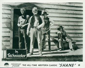 Promotional 8x10 Black & White Glossy Photograph for Shane. Paramount Pictures.