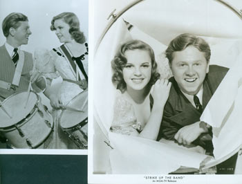 Promotional B&W Photographs for Strike Up The Band, featuring Judy Garland and Mickey Rooney. MGM.