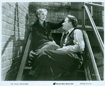 Promotional B&W Photograph for Glass Menagerie, featuring Gertrude Lawrence & Arthur Kennedy. Warner Brothers.