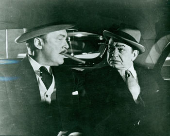 Promotional B&W Photograph for Illegal, featuring Edward G. Robinson. Warner Brothers.