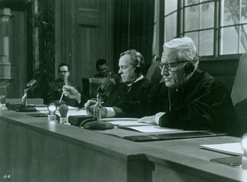 Promotional B&W Photograph for Judgment At Nuremberg, featuring Spencer Tracy. United Artists.