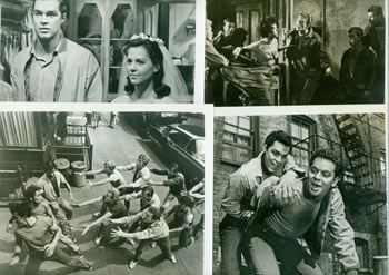 Promotional B&W Photographs for West Side Story, featuring Natalie Wood, Richard Beymer, Rita Moreno. United Artists.