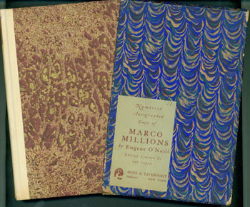 Marco Millions. Limited edition: copy number 73 of 440, signed by the author on the limitation page. First Edition. Eugene O'Neill.