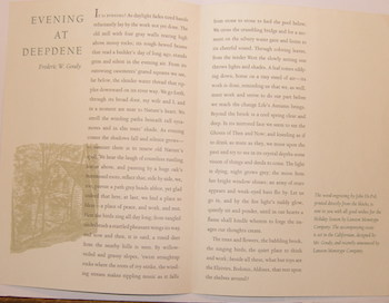 Evening At Deepdene. Frederic W. Goudy, Lanston Monotype Co.