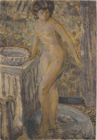 Nude woman at her toilette. Pierre Bonnard.