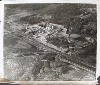 Aerial view of industrial/mining site. Aerial photographer.