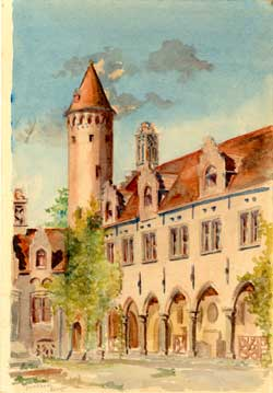 Gruuthuse, Bruges. Architectural painter.
