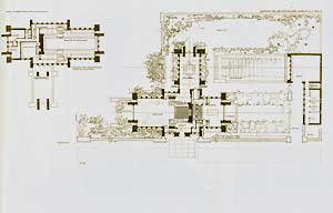 The Ullman house. Ground plan, 1904. Pl. XVI. Frank Lloyd Wright.