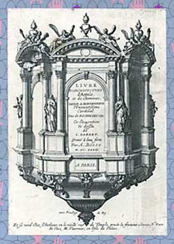 Livre d'architecture d'autels, et de cheminées = Architecture of Altars & Chimneys. Jean Barbet.