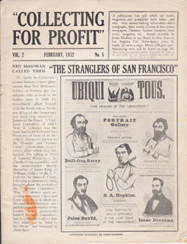 Collecting for Profit, Vol. 2, No. 5, February 1932. James Madison.