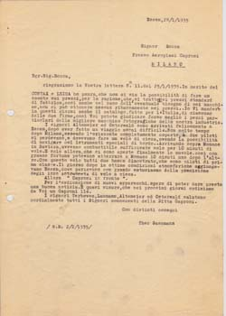 Typed Letter from Theo Gassmann, to Pietro Rocca, Theo Gassmann.