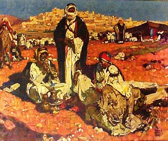 Shepherds in the Field. Dean Cornwell.