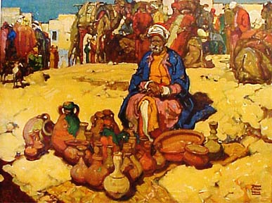 A Pot Seller in Bethlehem. Dean Cornwell.