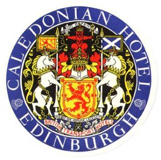 Baggage label for Caledonian Hotel. Caledonian Hotel