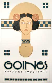 Goines. Posters: 1968-77 [miniature poster]. David Lance Goines