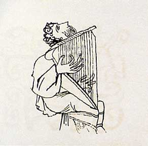 Man Playing Cithara, from the Hallelujah Miniatures No. 2 Suite without Calligraphy. Ben Shahn