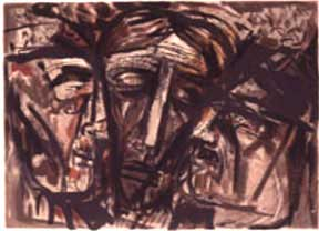 The Prophets. (Three Heads). Abraham Rattner.