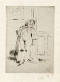 Pocharde. (Nude prostitute in a provocative pose). Louis Legrand