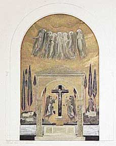 Design of Mosaic for Sancturary, Church of our Savior of the Bleeding Heart. Millard Sheets