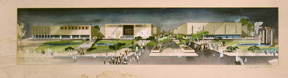 Design for the Pomona Mall Shopping Center (now Western University of Health Sciences). Millard...