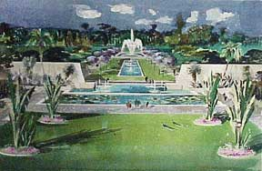 Design for a Monumental Garden, Los Angeles, California. Millard Sheets