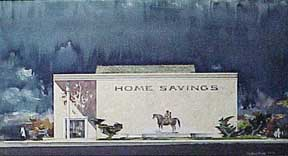 Design for Home Savings, and Loan Association, San Jose, California. Millard Sheets