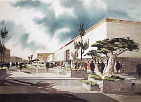 Design for a Southern California Shopping Center. Millard Sheets