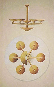 Design for a Ceiling Light Fixture, Los Angeles, California. Millard Sheets