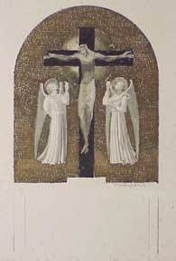 Christ on the Cross with Angels. Millard Sheets