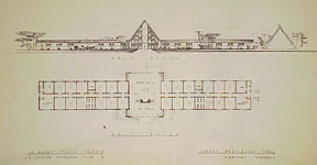 Design for Girls Collegiate School. Claremont, California. Millard Sheets