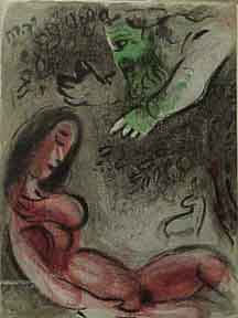 Eve Incurs God's Displeasure. Marc Chagall.