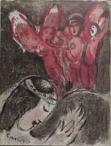 Sarah and the Angels. Marc Chagall