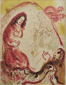Rachel Hides Her Father's Household Gods. Marc Chagall