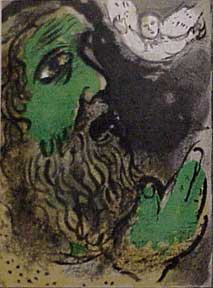 Job Praying. Marc Chagall.
